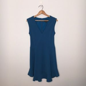 J. CREW | SIZE 8 | MIDI POLYESTER BLUE DRESS